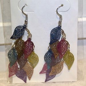New long earrings Multi color
